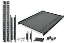 Acessórios da NetShelter para instalação de prateleiras e montagem